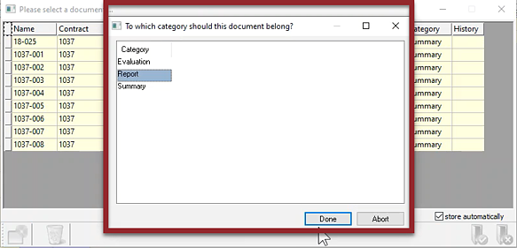 Document Vault - Categorize